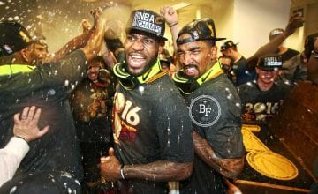 LeBron James and JR Smith Celebrations