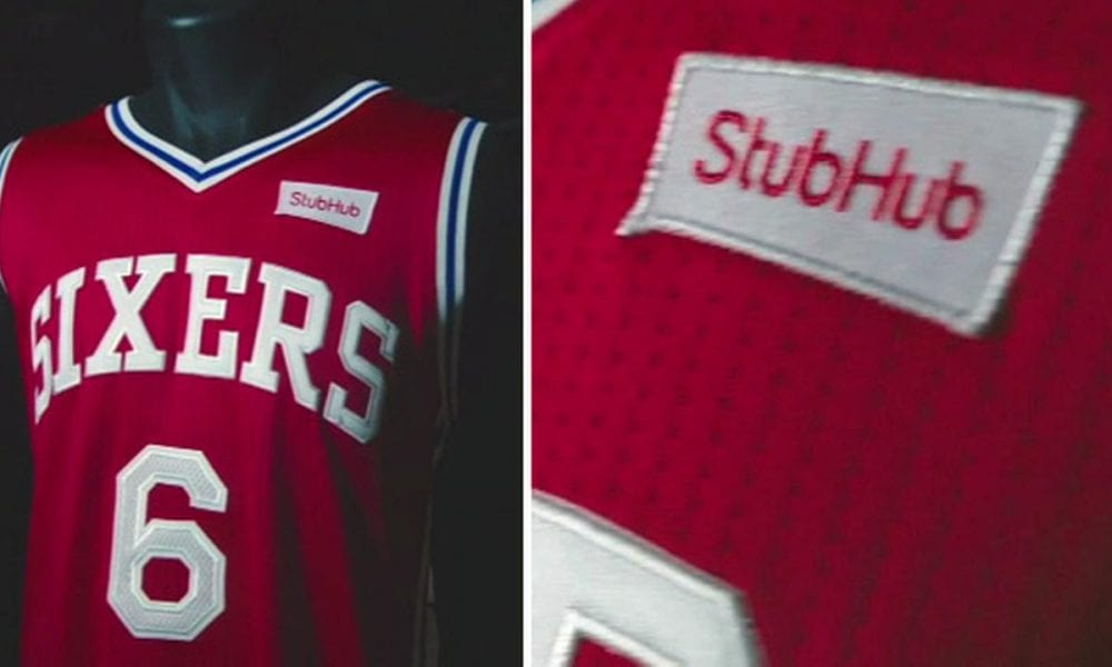 76ers Advertising Patch