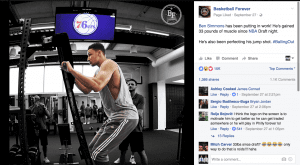 Ben Simmons puts on muscle.