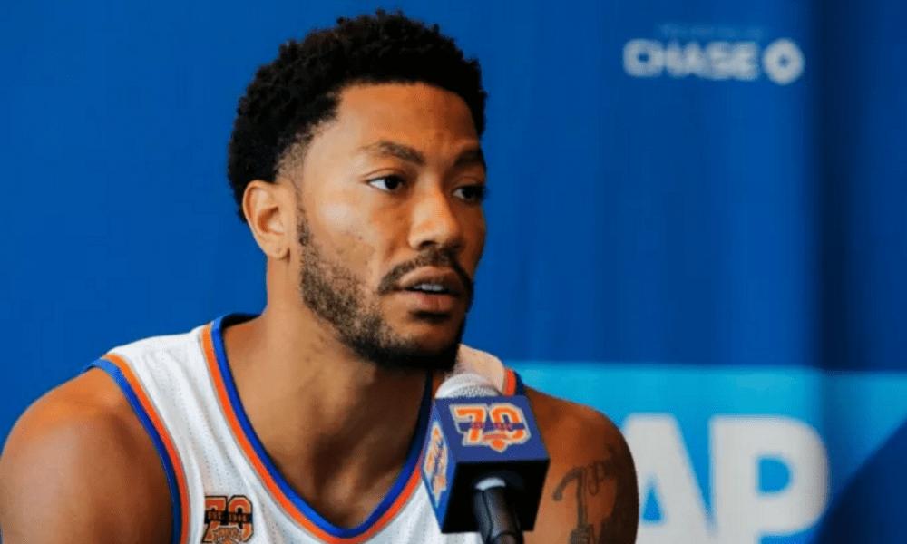 Derrick Rose Knicks Press Conference