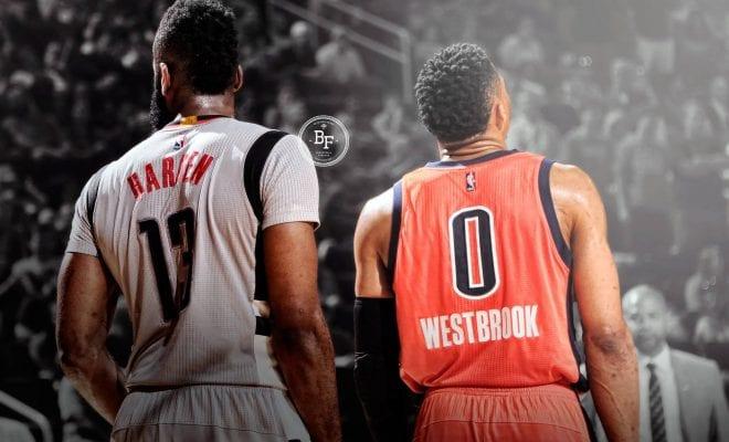Westbrook và Harden là hai ứng cử viên của MVP năm nay
