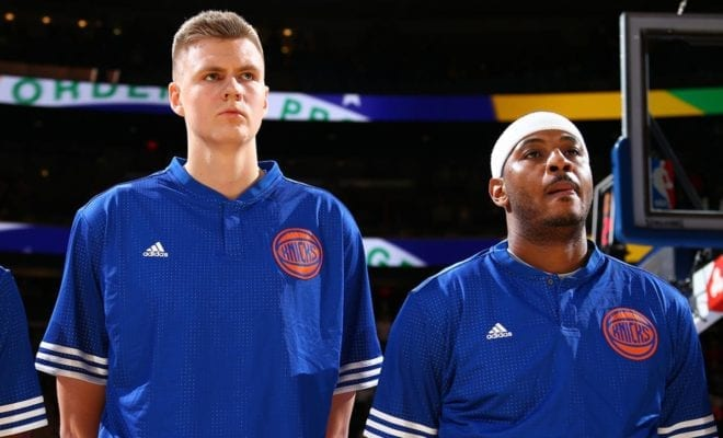 8bf387d1d Kristaps Porzingis Says Carmelo Anthony Deserves Warm Reception In New York  Return