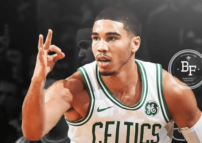 Jayson Tatum Discusses His Trash Talk To Joel Embiid After Attempted Poster