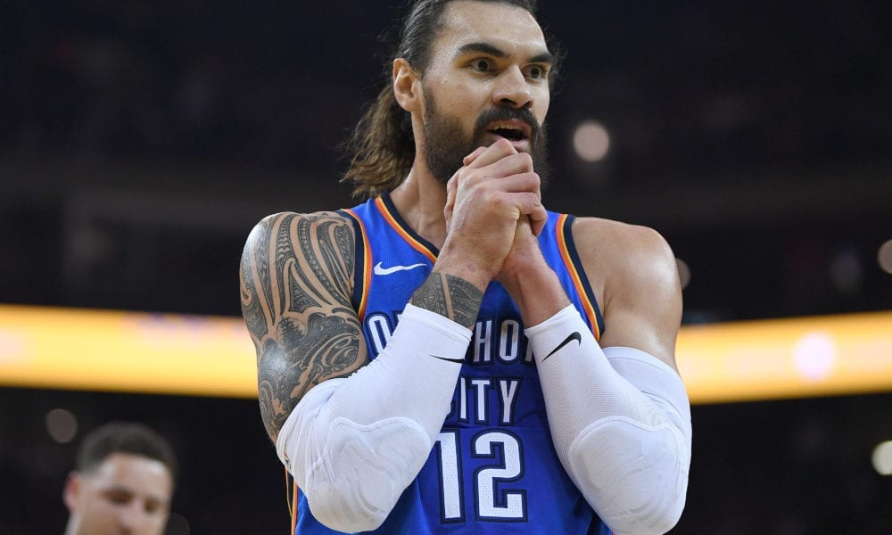 Steven Adams Likes Comment Trashing Carmelo Anthony, Blames His 'Fat Fingers'