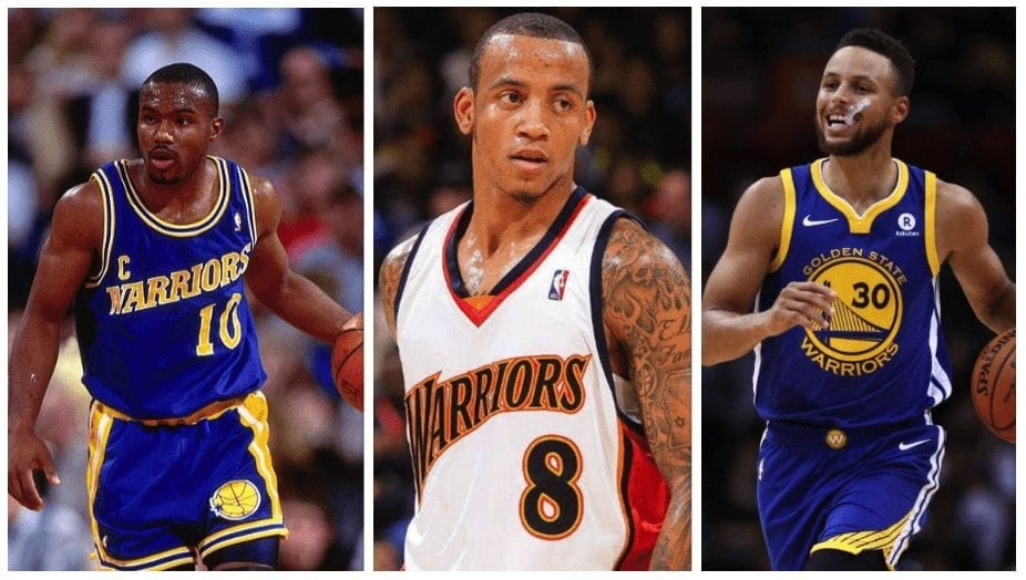 """128baaced0f9 Golden State Warriors. The orange and navy threads Monta Ellis is rocking  above hold great memories thanks to the """"We Believe"""" Warriors of 2007."""