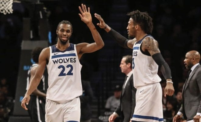 aec6a945a How Robert Covington Is Trying To Get Andrew Wiggins And Karl-Anthony Towns  Locked In