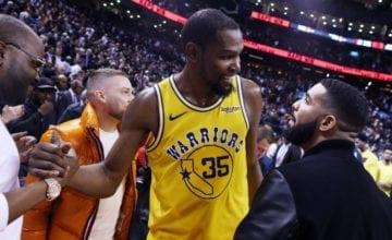 KD Gave Drake His Jersey