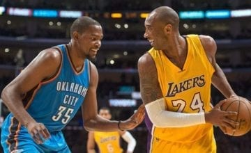 Kevin Durant and Kobe Bryant