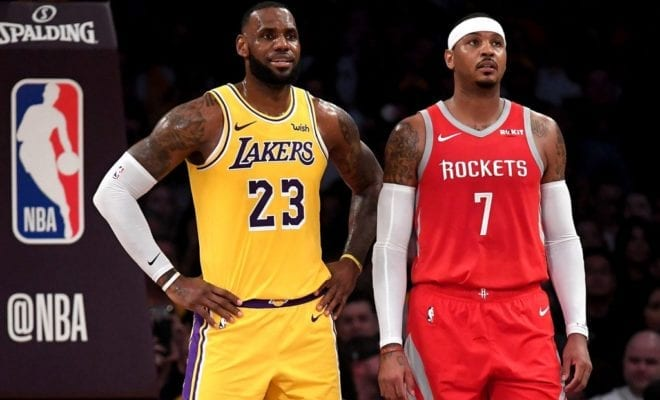22fc69ebaf36 Yesterday reports broke that LeBron James wanted Carmelo Anthony to join  the Lakers