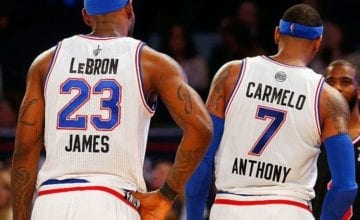 carmelo anthony lebron james basketball forever