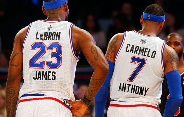 553d3d23b9b8 LeBron James Wants Carmelo Anthony To Join The Lakers – Report