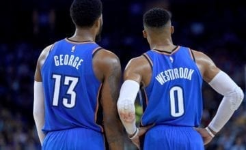 paul george russell westbrook basketball forever