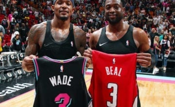 Wade and beal exchange jerseys