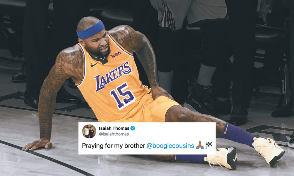 NBA Players React To DeMarcus Cousins Tearing His ACL