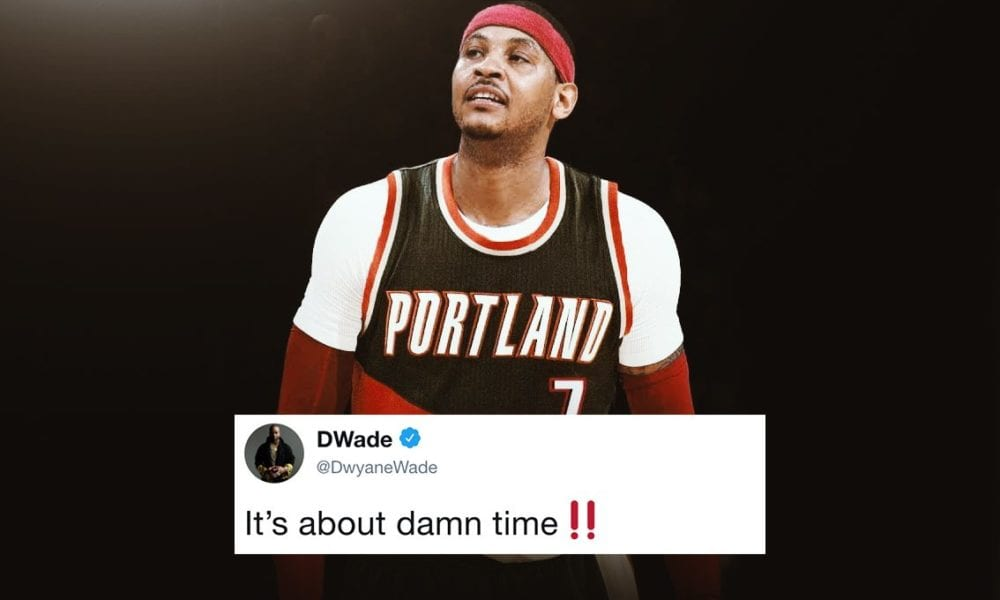 NBA Players React To Carmelo Anthony Signing With The Blazers